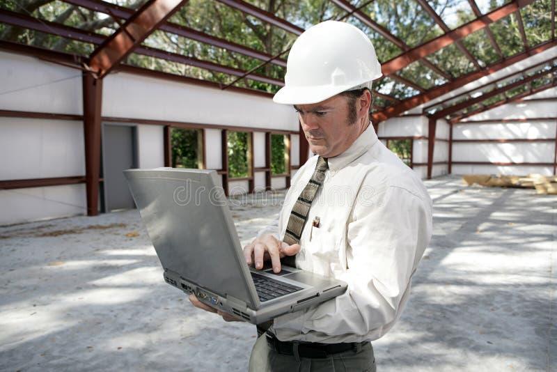 Relatório do inspector da construção foto de stock