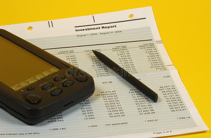 Relatório do investimento fotos de stock