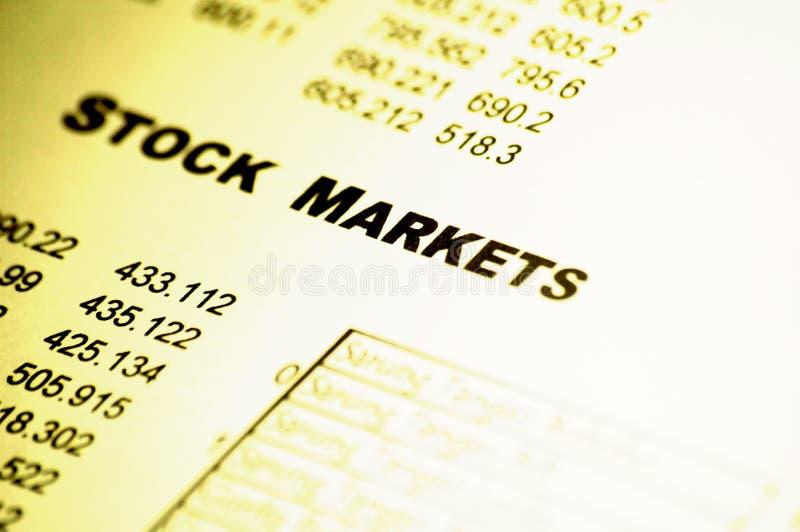 Relatório financeiro dos mercados de valores de acção fotos de stock royalty free