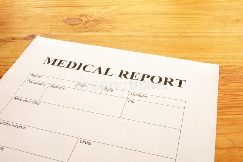Relatório médico fotografia de stock