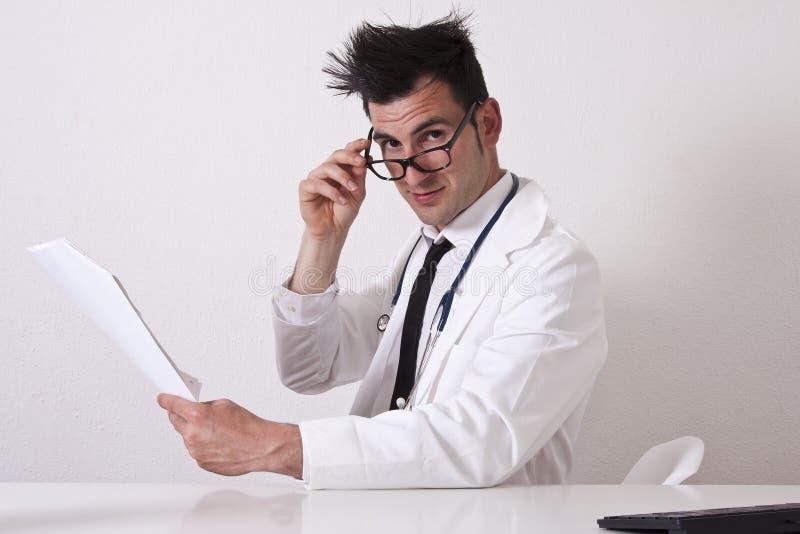 Relatórios de consulta do doutor fotografia de stock