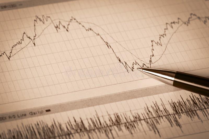 Relatórios financeiros do negócio fotografia de stock