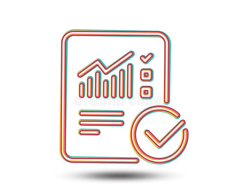Relate a linha ícone do original checklist ilustração stock
