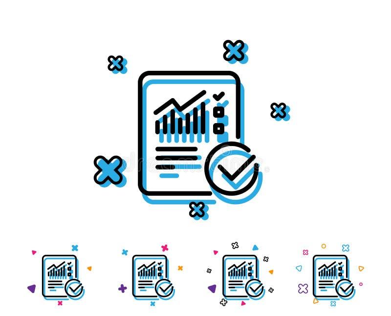 Relate a linha ícone do original checklist ilustração royalty free
