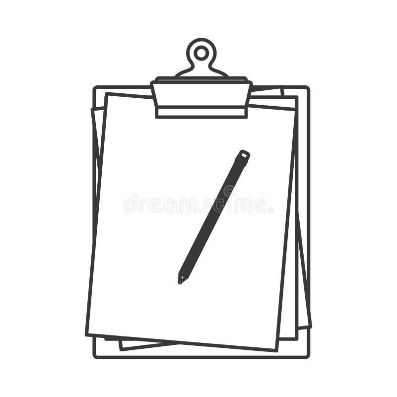 Relate o ícone da tabela ilustração do vetor