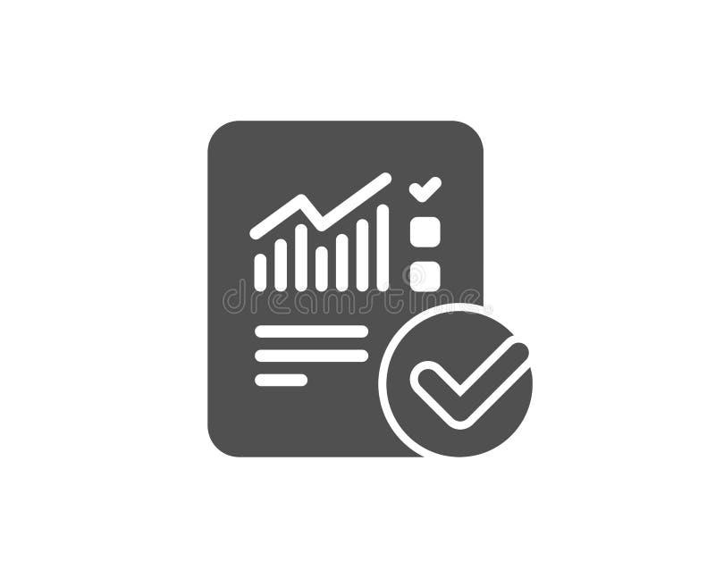 Relate a original o ícone simples checklist ilustração do vetor