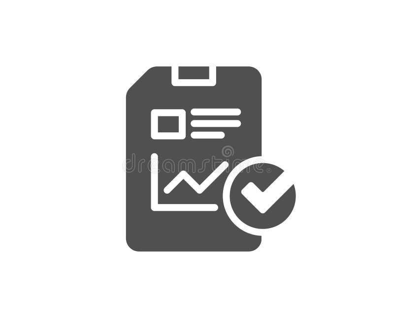 Relate a original o ícone simples checklist ilustração stock