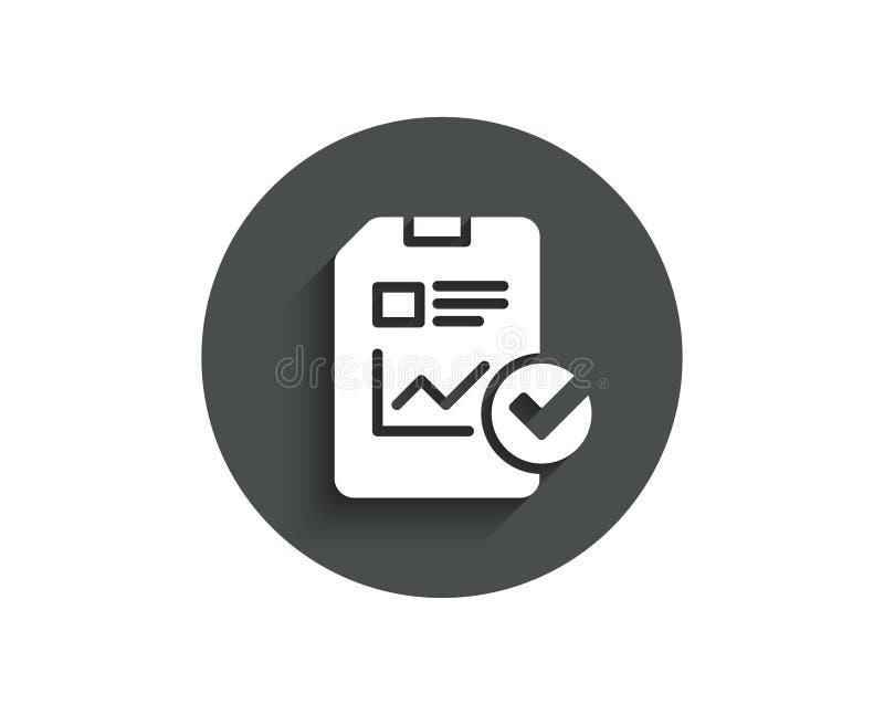 Relate a original o ícone simples checklist ilustração royalty free