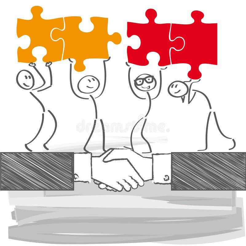 Relation d'affaires illustration de vecteur