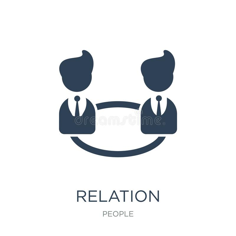 relation icon in trendy design style. relation icon isolated on white background. relation vector icon simple and modern flat vector illustration