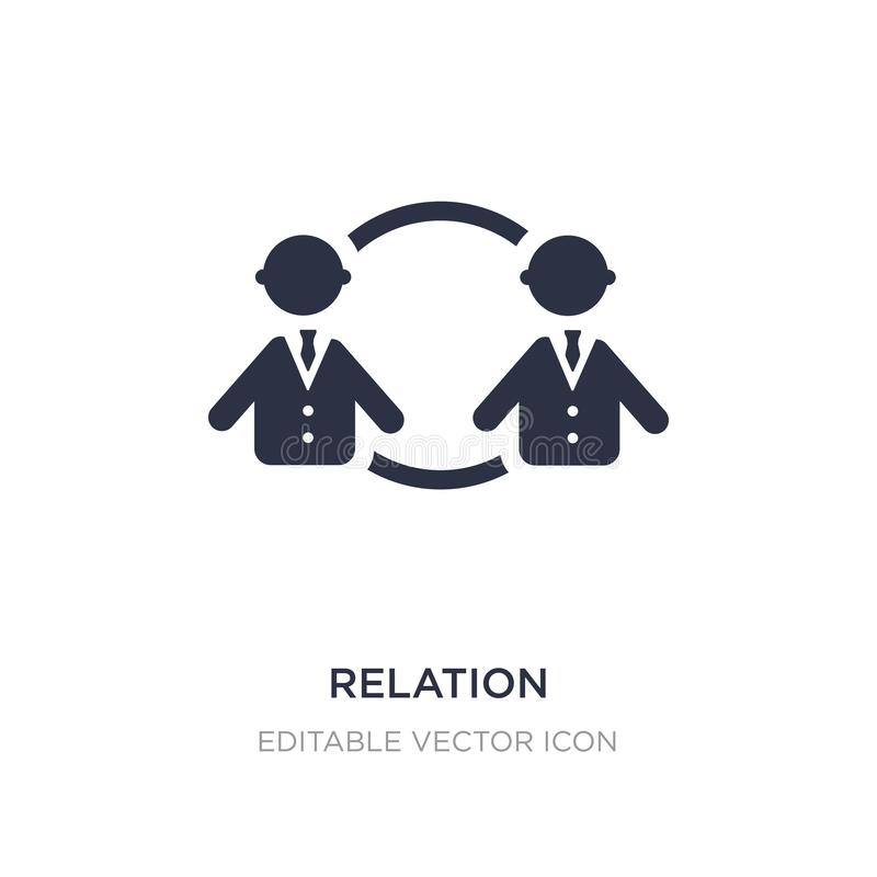 relation icon on white background. Simple element illustration from People concept vector illustration