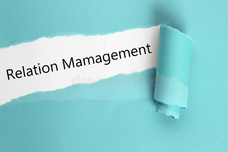 Relation management stock photography