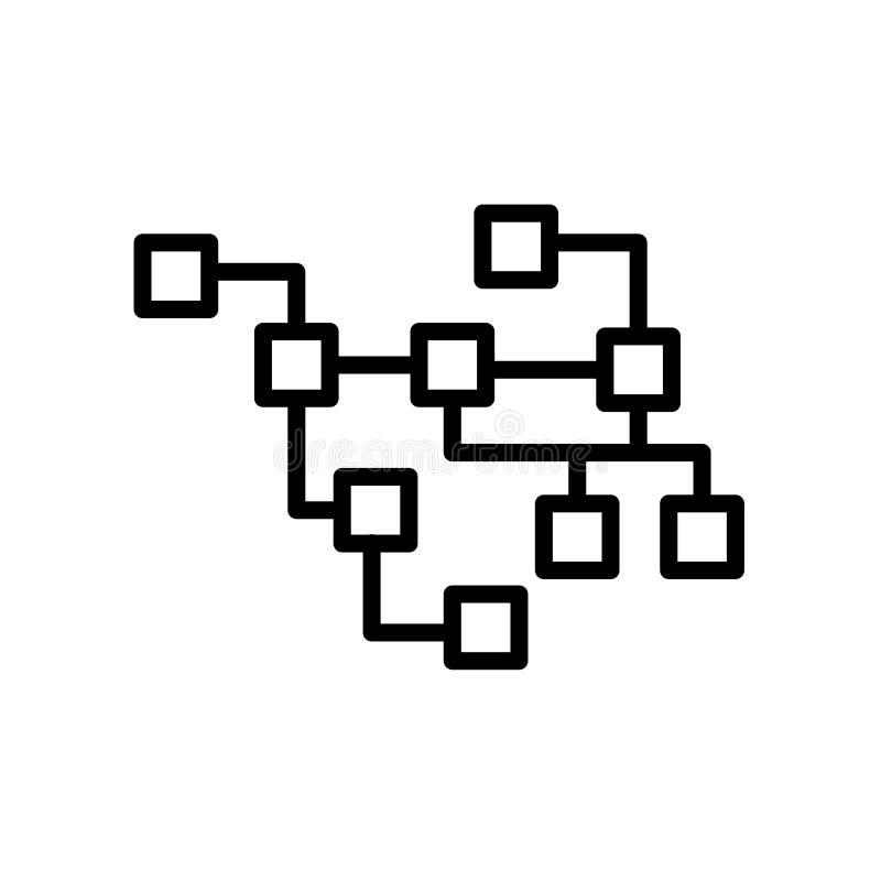 relational database icon isolated on white background royalty free illustration