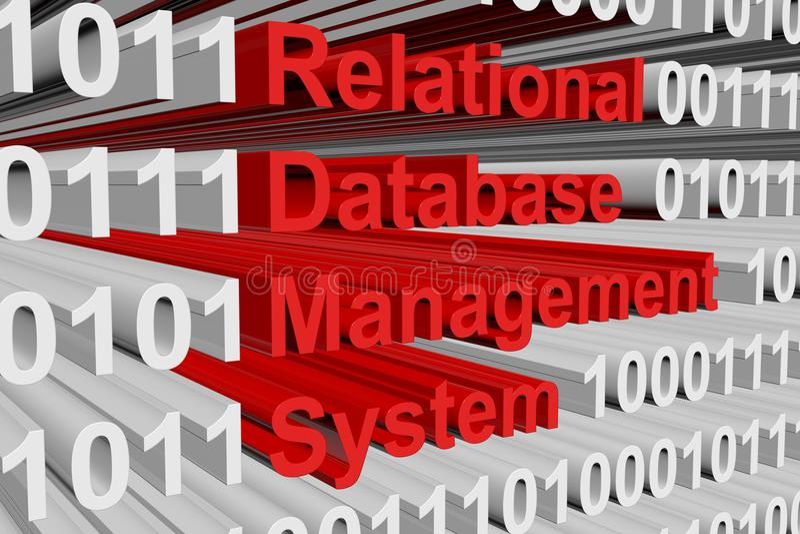 Relational database management system stock illustration