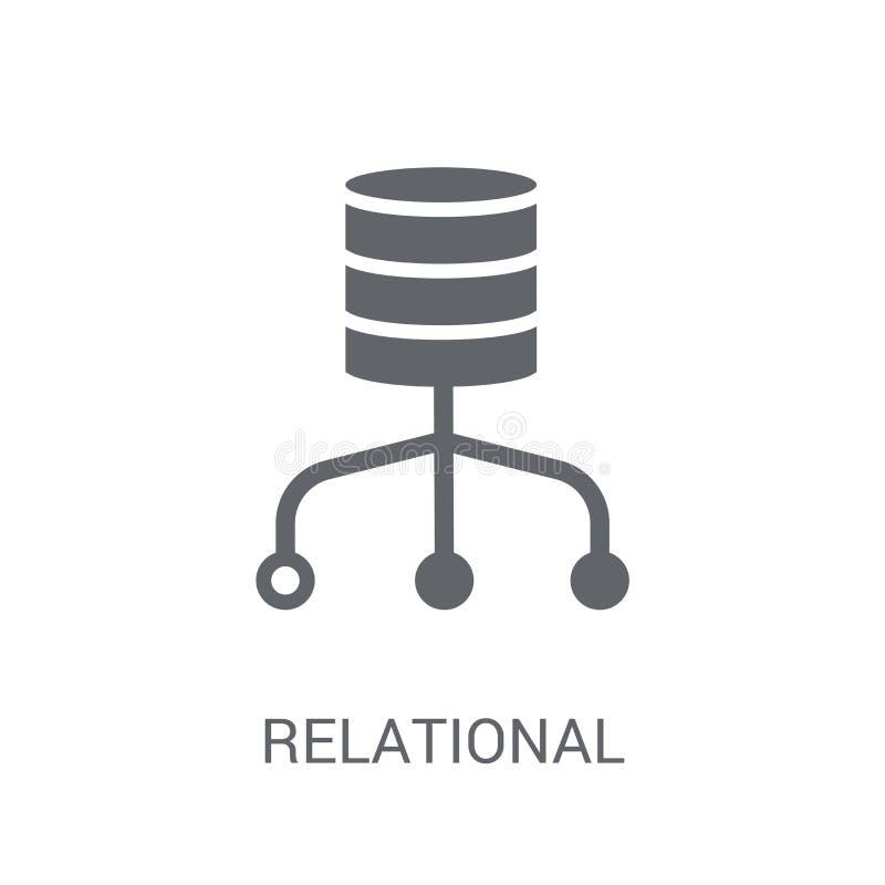 Relational database management system icon. Trendy Relational da royalty free illustration