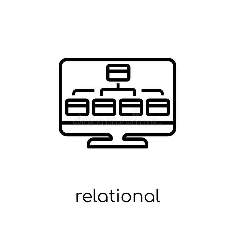 Relational database management system icon. Trendy modern flat l vector illustration