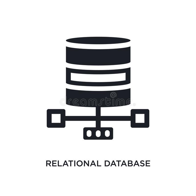 relational database management system isolated icon. simple element illustration from technology concept icons. relational royalty free illustration