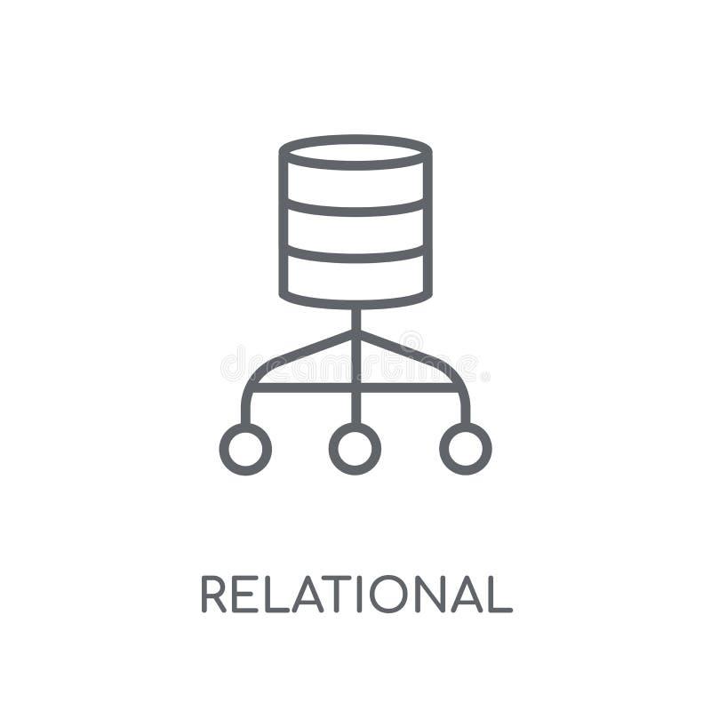 Relational database management system linear icon. Modern outlin stock illustration