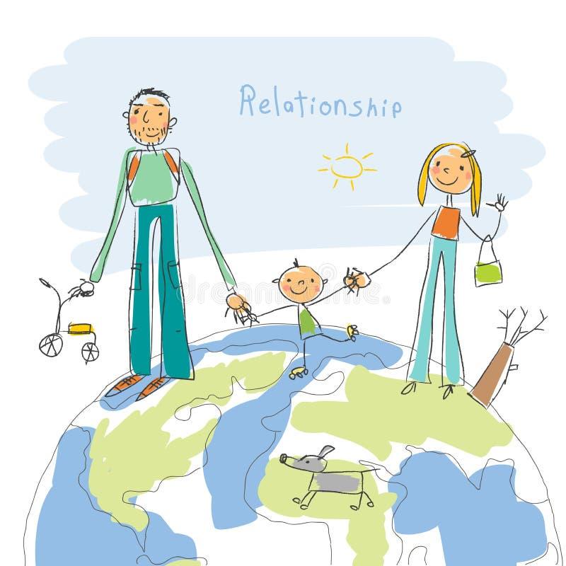 Relations d'unité illustration stock