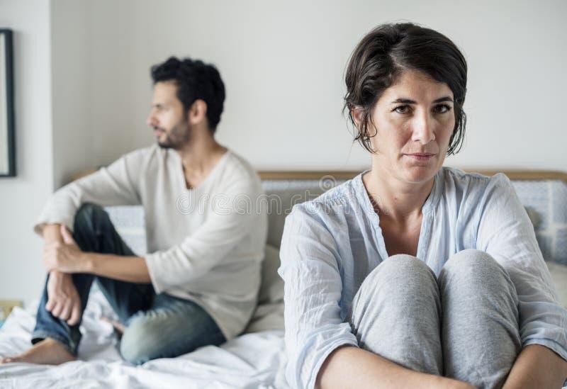 Relations de problème mariées par couples malheureuses images libres de droits