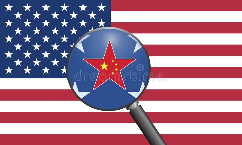 Relations des USA Chine illustration stock