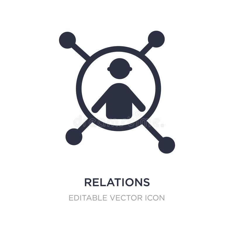 relations icon on white background. Simple element illustration from People concept stock illustration