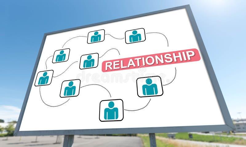 Relationship concept on a billboard. Relationship concept drawn on a billboard royalty free stock images