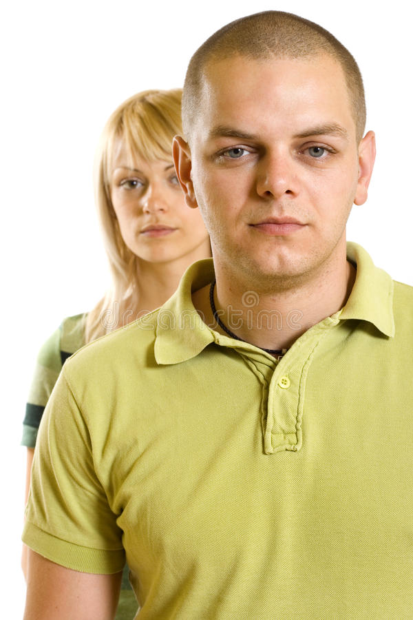 Relationship difficulties. Young couple having a conflict royalty free stock photos