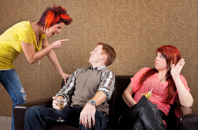 Relationship difficulties cheating stock image