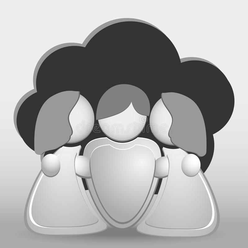Relationship difficulties vector illustration