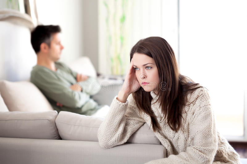 Relationship difficulties royalty free stock photo