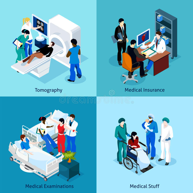 Relationship Between Doctor And Patient Icon Set vector illustration