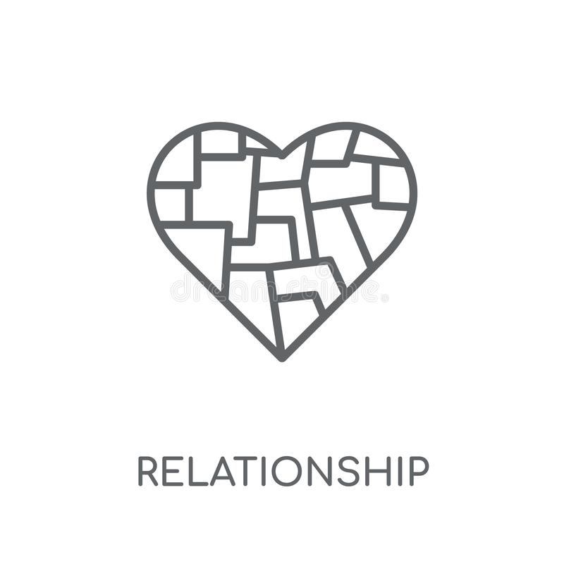 Relationship linear icon. Modern outline Relationship logo conce royalty free illustration