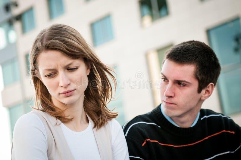 Relationship problem - couple portrait royalty free stock photo