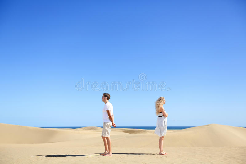 Relationship problem - upset couple argument royalty free stock images