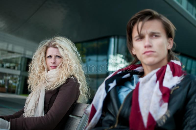 Download Relationship Problems - Couple Outdoor Stock Photo - Image: 21890722