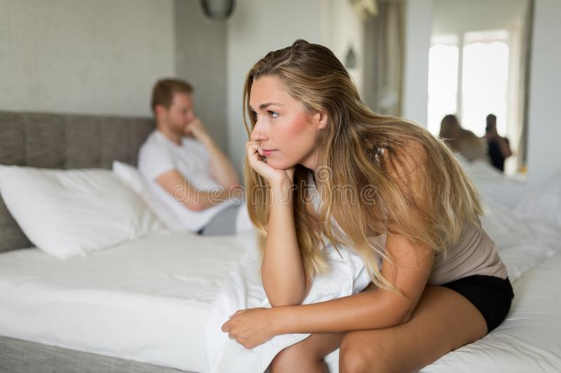 Relationship problems due to stress royalty free stock image