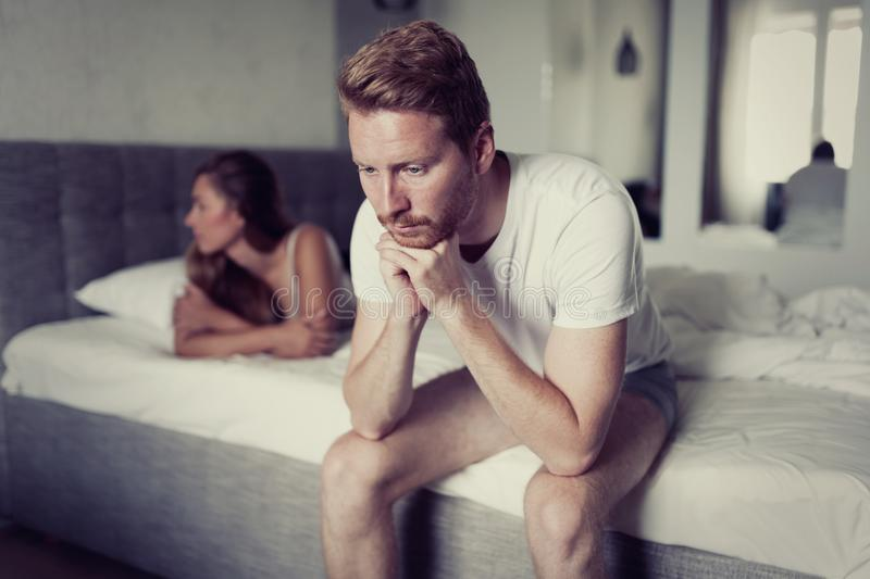 Relationship problems due to stress stock photography