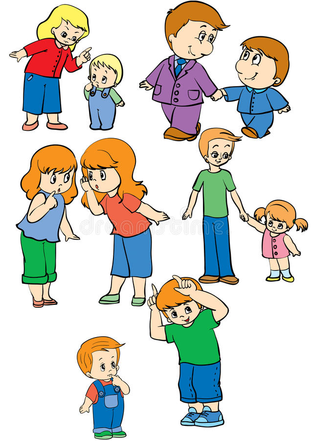 Relatives stock illustration
