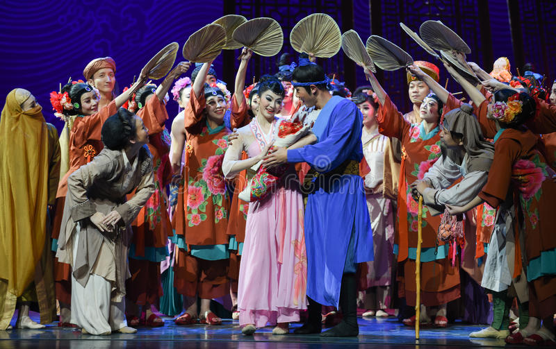 """Relatives and friends sent to the newborn blessing-Dance drama """"The Dream of Maritime Silk Road"""". Dance drama """"The Dream of Maritime Silk Road royalty free stock photography"""