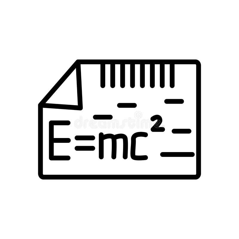Relativitätsikonenvektor lokalisiert auf weißem Hintergrund, Relativität vektor abbildung