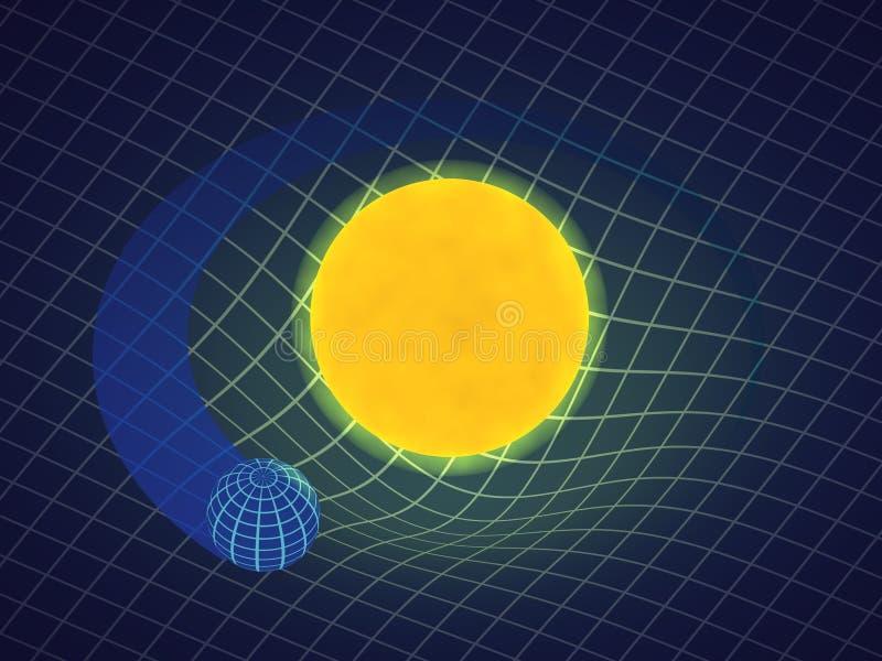 Relativité de la gravité illustration stock
