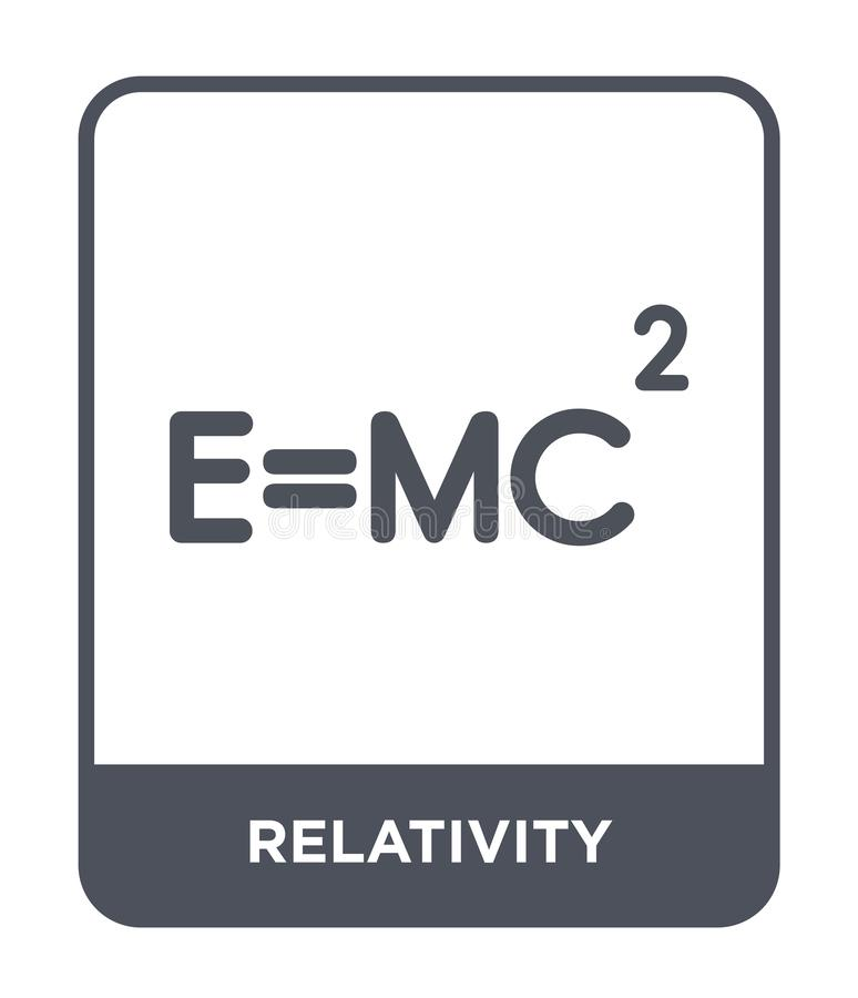 Relativity icon in trendy design style. relativity icon isolated on white background. relativity vector icon simple and modern. Flat symbol for web site, mobile royalty free illustration