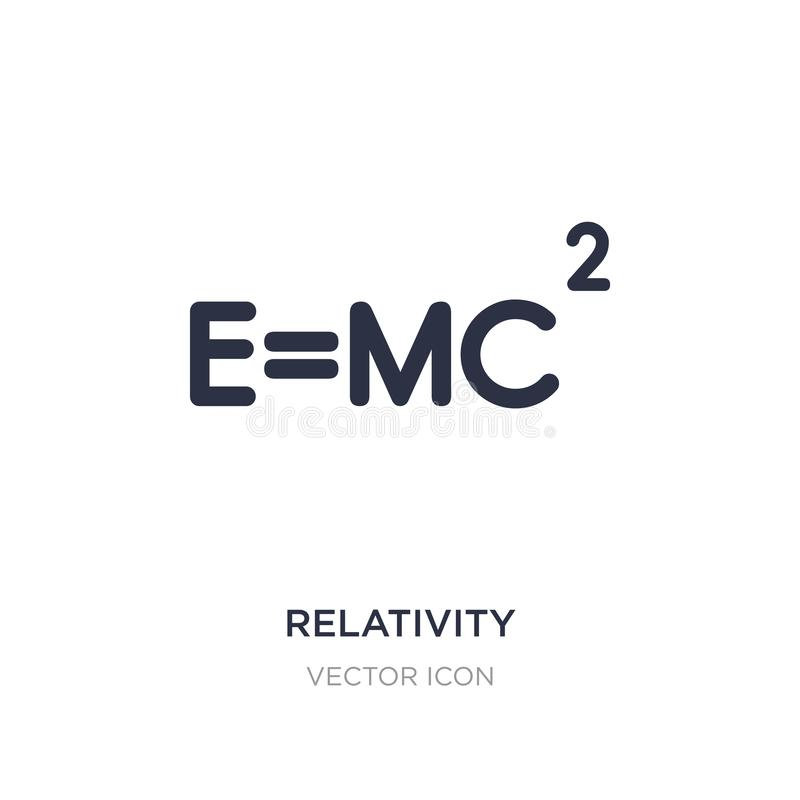 relativity icon on white background. Simple element illustration from Astronomy concept stock illustration