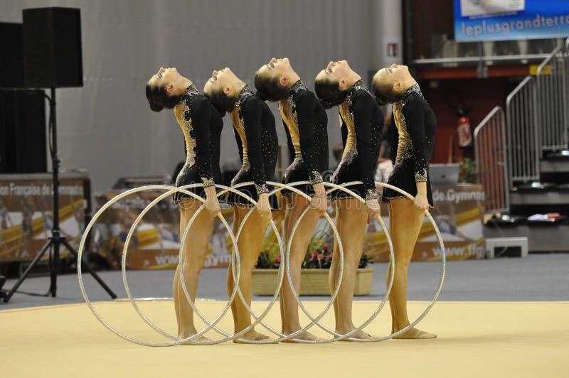 Relativo alla ginnastica ritmico, Azrebaidjan fotografia stock libera da diritti