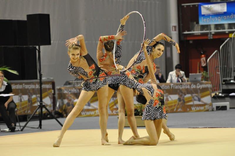Relativo alla ginnastica ritmico, Canada immagini stock libere da diritti
