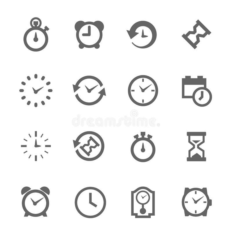 Relativo stabilito dell'icona semplice a tempo illustrazione vettoriale