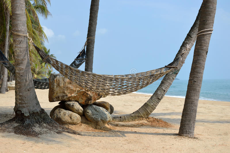 Relax. Relax on the ban-grood beach thailand stock image