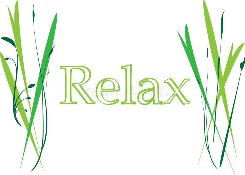 relax royaltyfri illustrationer