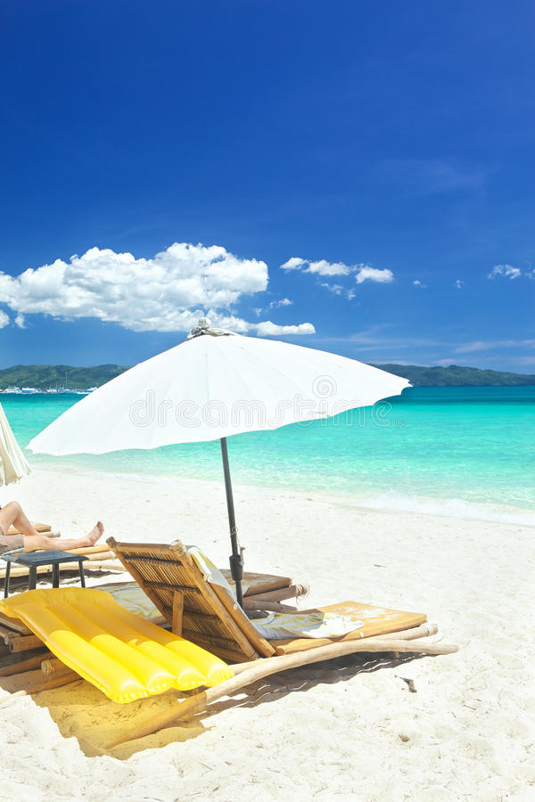 Download Relax area on beach stock image. Image of vacation, blue - 30983263
